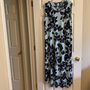Boho Blu Size 3XL Dress